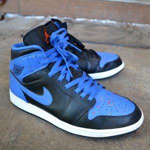 Nike Air Jordan 1 Retro Men Royal Paint Splatter